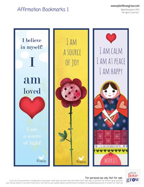 make your own affirmation cards self esteem plant grown