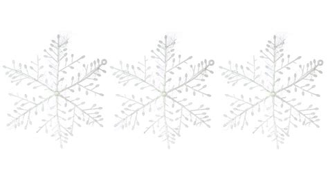 how to make medium size ornaments out of construction paper 1 32 festive decoration snowflake ornaments 3 pack 3 pack medium size at