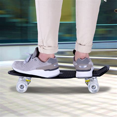 Skateboard Bananaboard Pennyboard Fishboard Roda Pu skateboard fish mini cruiser banana deck complete board retro black 22inch ebay
