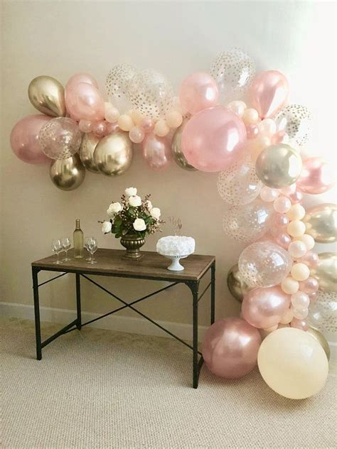 Rose Gold Balloon Garland DIY Kit Rose Gold New Chrome