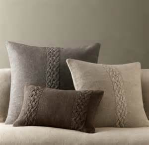 belgian linen knit pillow covers traditional
