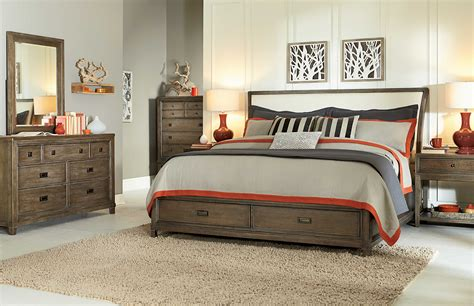studio bedroom furniture american drew park studio weathered taupe with gray wash