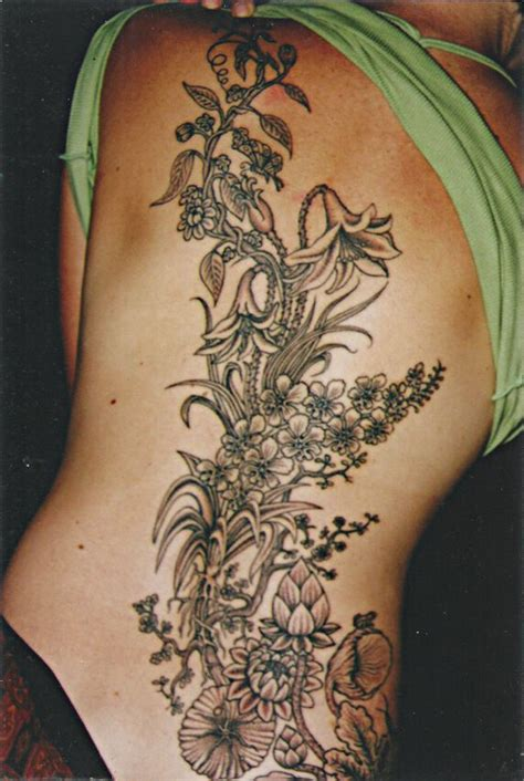 amazing flowers big magic tattoo koh phangan thailand