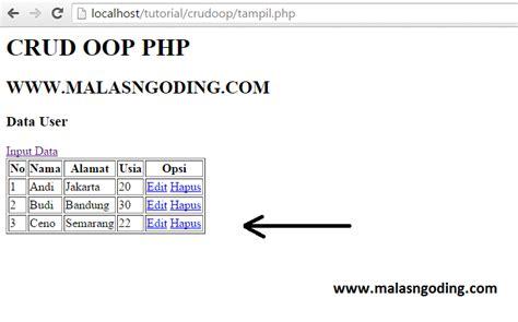 membuat database dengan mysql query browser membuat crud dengan oop php dan mysql part 2 malas ngoding