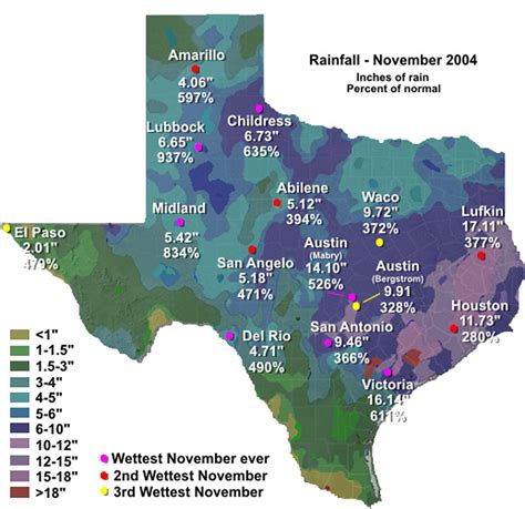 texas rainfall totals map noaa news story 2351