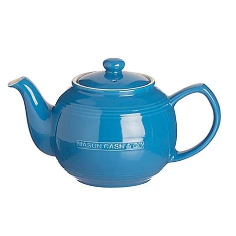 bed bath and beyond teapot buy mason cash 174 ceramic teapot and infuser in blue from