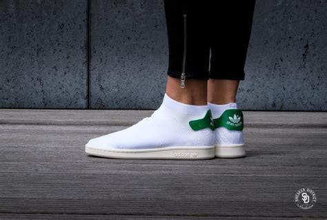 adidas stan smith sock pk  footwear white green