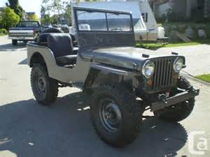 Willys Jeep For Sale Bc 1947 Jeep Willys Cj2a Quot Mint Quot For Sale In Surrey