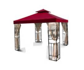 Patio Gazebo 10 X 10 2 Tier 10 X 10 Ft Garden Canopy Gazebo Replacement Top Gazebos Patio And Furniture