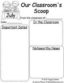 kindergarten classroom newsletter template 25 best ideas about kindergarten newsletter on