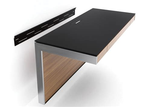 Sequel wall desk 6004 in chocolate stained walnut finish with tc 223