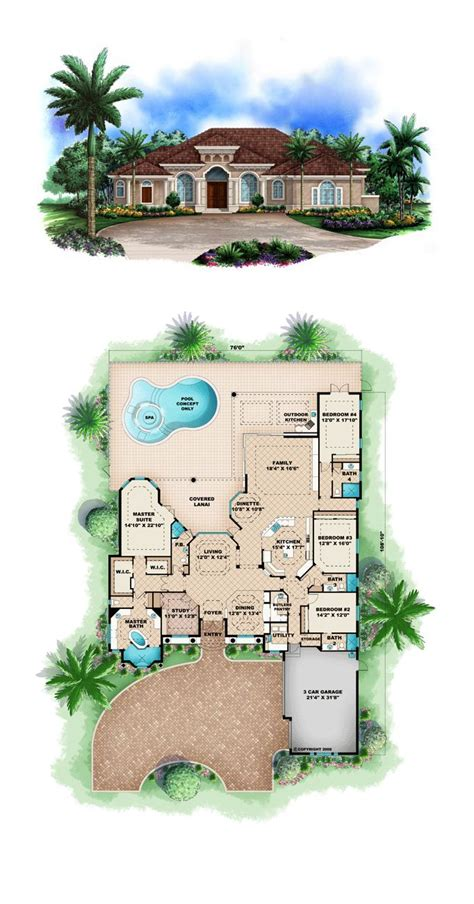 home design florida plans with pool resort style kevrandoz