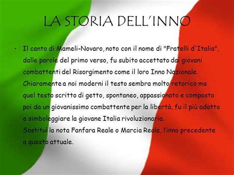 inno nazionale italiano testo inno nazionale italiano ppt scaricare
