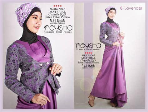 Terlaris Gamis Syari Vina Lavender Ungu Baju Gamis Pesta Mode Baju M balimo neysha lavender baju muslim gamis modern