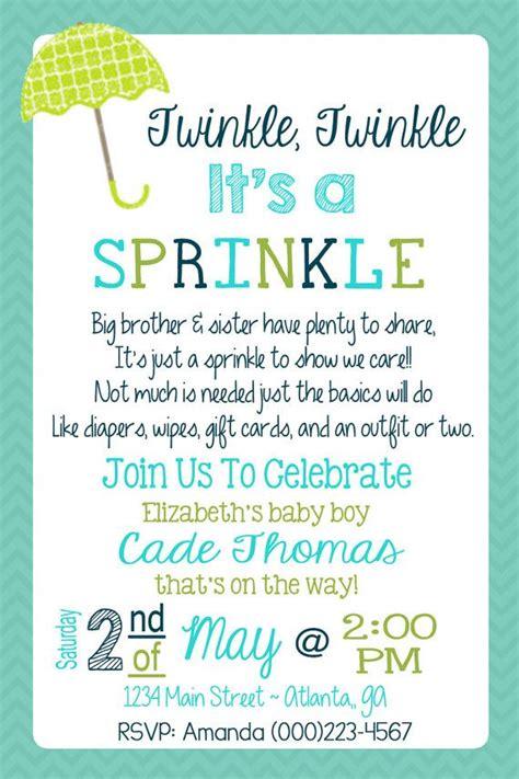 Sprinkle Baby Shower Invitations Wording by 1000 Fikir Sprinkle Invitations Te Bebek