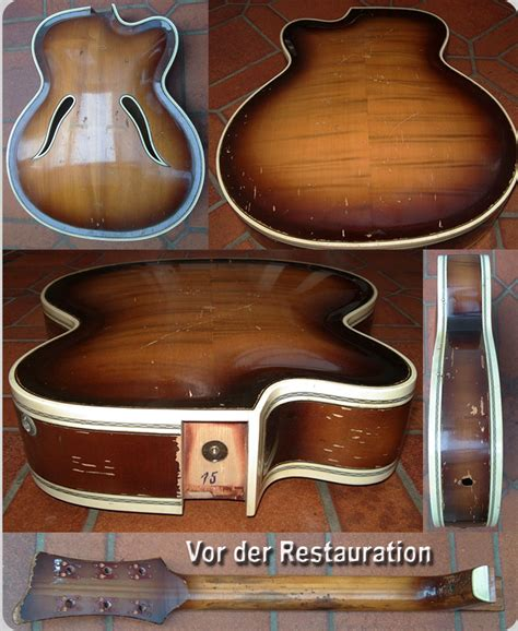 Gitarre Schlagbrett Lackieren by Restauration Einer Wolfrum Jazzgitarre 171 Schlaggitarren