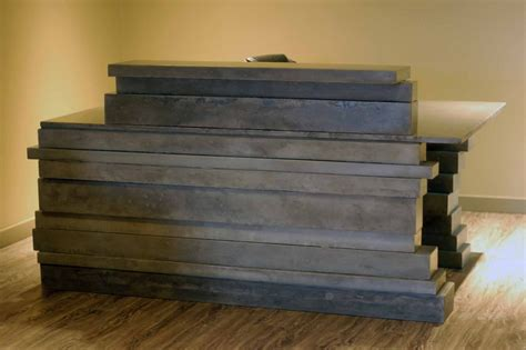 Custom Made Reception Desks Made Concrete Reception Desk By Vandorn Turpen Custommade