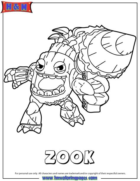 Skylanders Coloring Pages Zook | zook colering free colouring pages