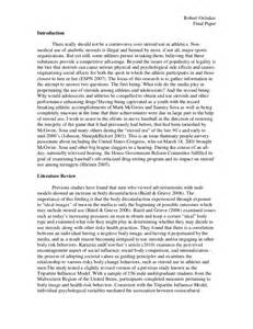Sportsmanship Essay by Essays About Sports