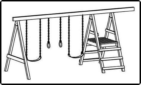 simple swing set plans custom jungle gym plans easy swing set building guides
