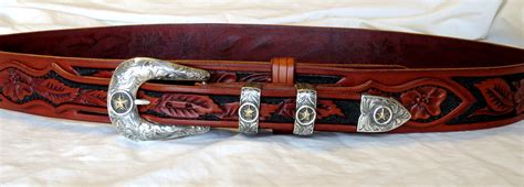 Ranger Belts Handmade - tooled western leather belts custom belts