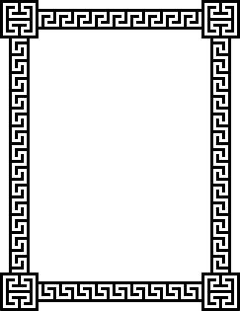 greek pattern frame clipart greek key frame 5
