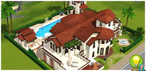 Spanish Home Designs featured look villa para 237 so snw simsnetwork com