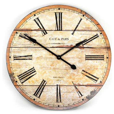 white wooden distressed wall clock clocks distressed wall clock farmhouse wall clock 60