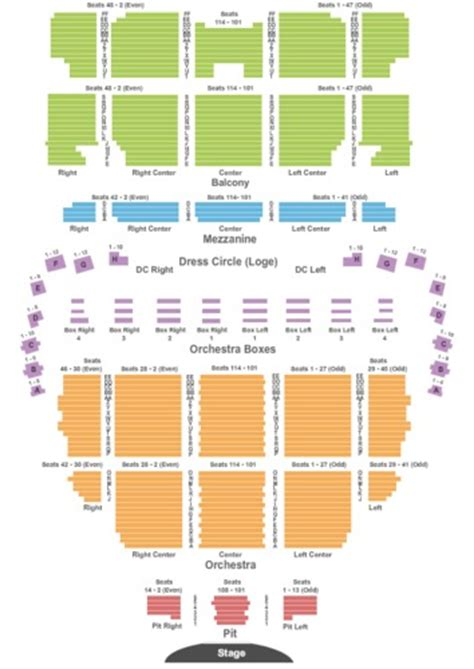 wang theater boston ma seating chart citi performing arts center wang theater tickets