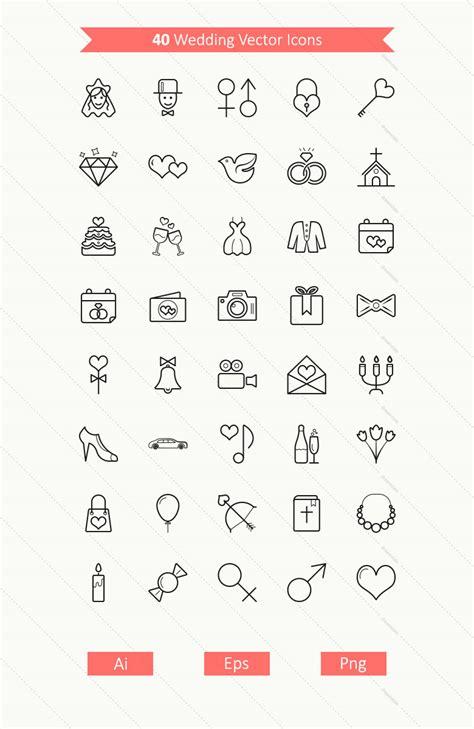 Wedding Vector by 40 Wedding Vector Icons Dreamstale