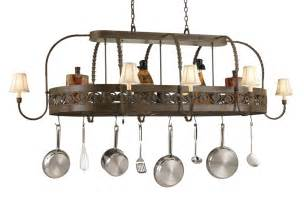 leaf collection 86 quot lighted hanging pot rack