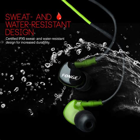Kotak Penyimpanan Earphone Aksesoris Gadget Black fonge sport earphone stereo bass waterproof with