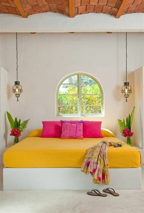 Colorful Bedroom Design Interior Design In Mexican Style One Decor