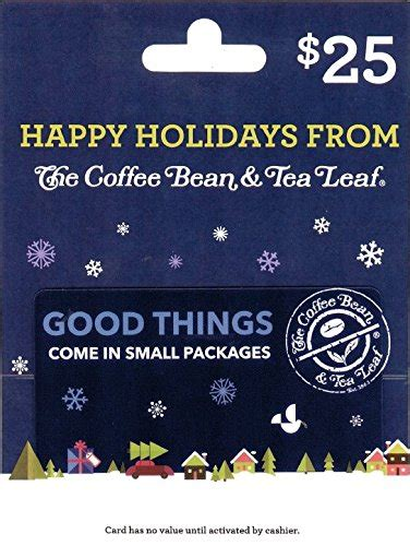 Coffee Bean Gift Cards - the coffee bean tea leaf 25 holiday gift card food beverages tobacco food items