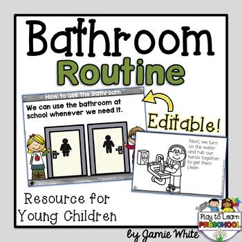 bathroom routine printables bathroom routine by play to learn preschool teachers pay