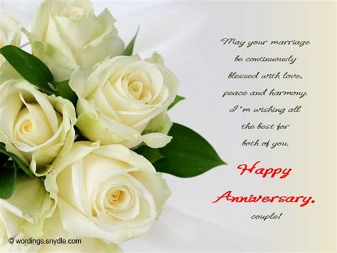 Wedding Wishes Yahoo by Best 25 Anniversary Message Ideas On Happy