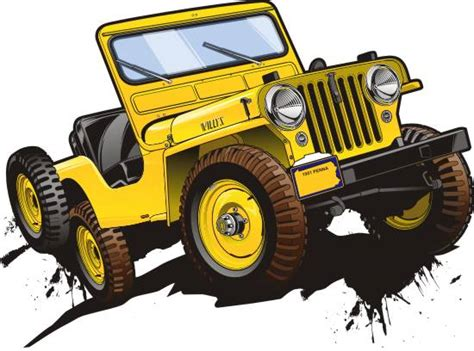 yellow jeep clipart jeep vector clipart 26