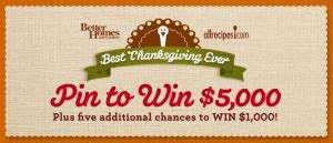All Recipes Sweepstakes - allrecipes com quot the best thanksgiving ever quot sweepstakes win 5 000