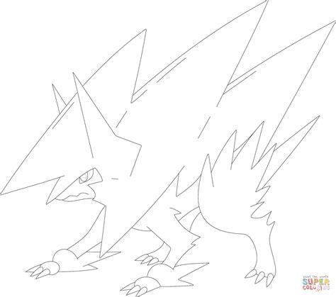 pokemon coloring pages mega camerupt mega manectric coloring page free printable coloring pages