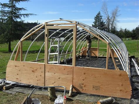 diy backyard greenhouse diy hoop greenhouse how to make a hoop greenhouse