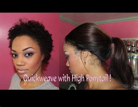 quick weave bob hairstyles tutorials quick weave with a high ponytail tutorial video high
