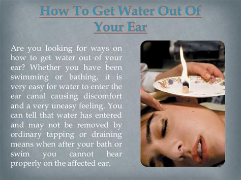 how to get out of how to get water out of your ear