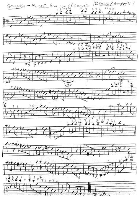 minor swing score minor swing history of jazz violin history of jazz
