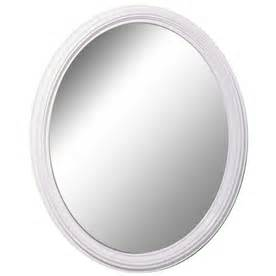 white framed oval bathroom mirror shop style selections white oval framed wall mirror at lowes com