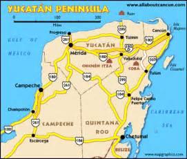 map of mexico yucatan region yucatan peninsula map images