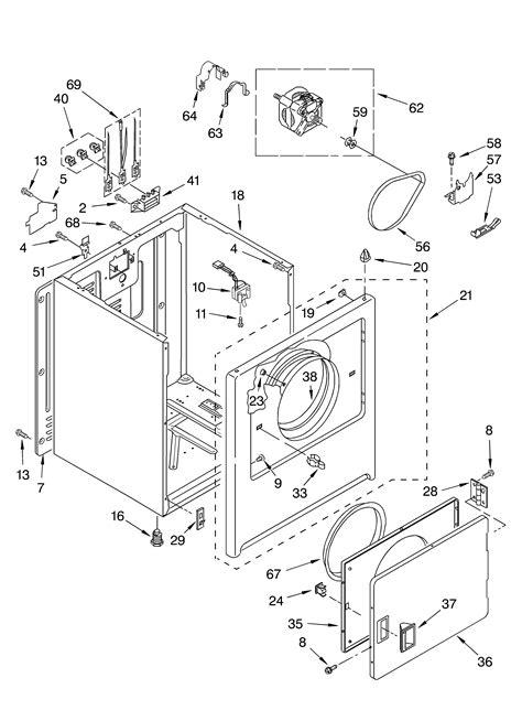 roper dryer diagram cabinet diagram parts list for model rex5634kq1 roper