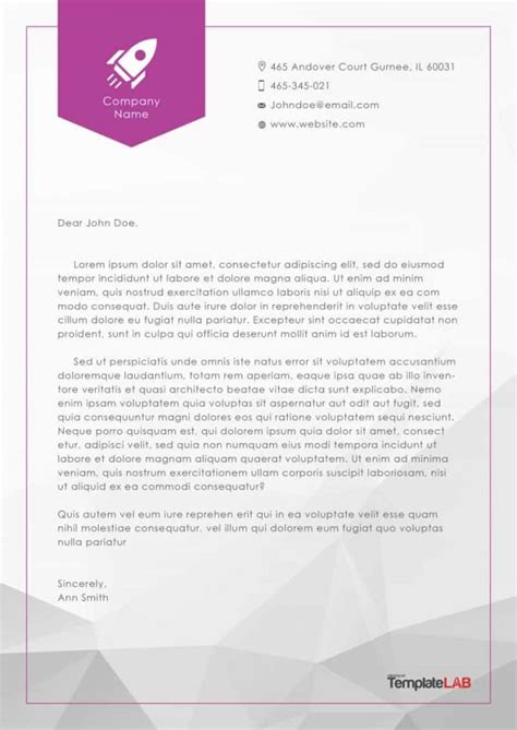 Companies That Make Paper - official letterhead templates free printable letterhead