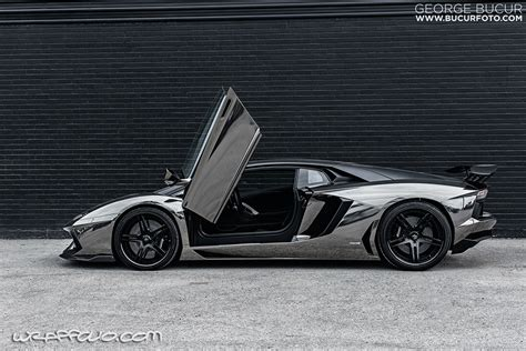 black chrome lamborghini black chrome aventador wrap wrapfolio