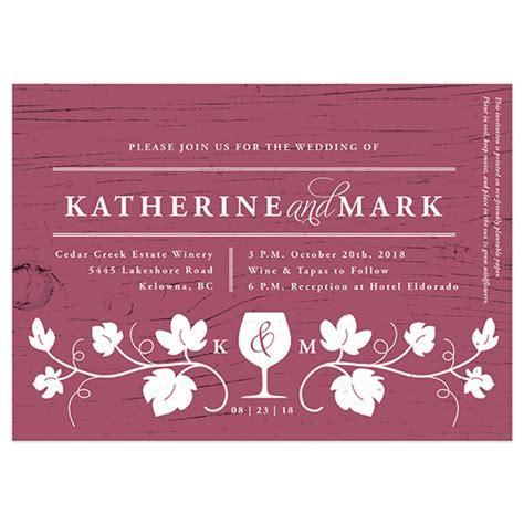seed paper wedding invitation kits winery seed paper wedding invitation plantable wedding