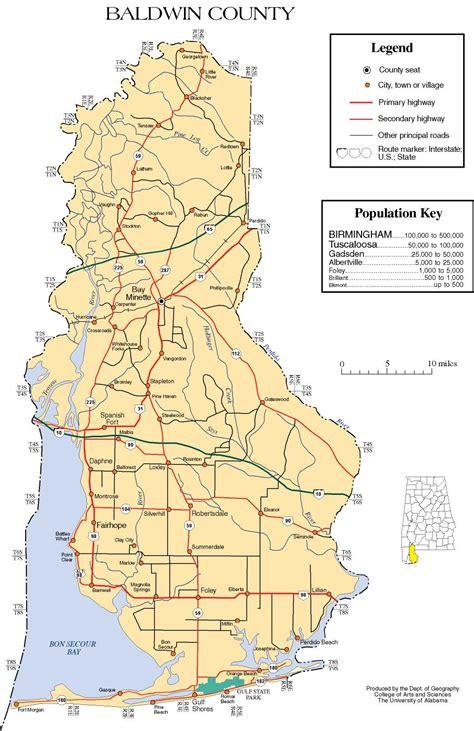 Baldwin County Alabama Records Map Of Baldwin County Alabama The Wiki